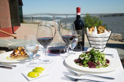 Our riverfront lounge is a great place to dine during the spring and summer months