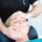 Hand on face massage