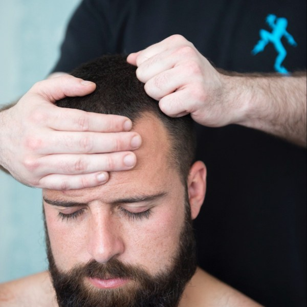 Head massage for men
