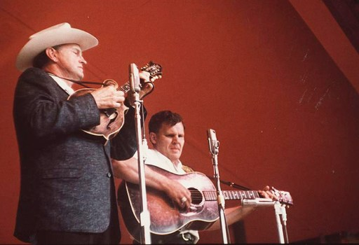 Bill Monroe, Doc Watson, 1963, by Peter Feldmann