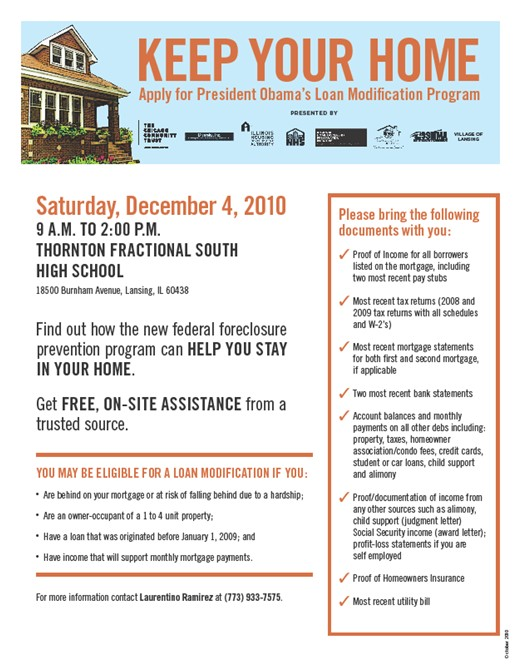 Download the Keep Your Home 12/4/10 Event Flyer [.pdf]