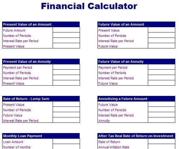 Basic Financial Calculator