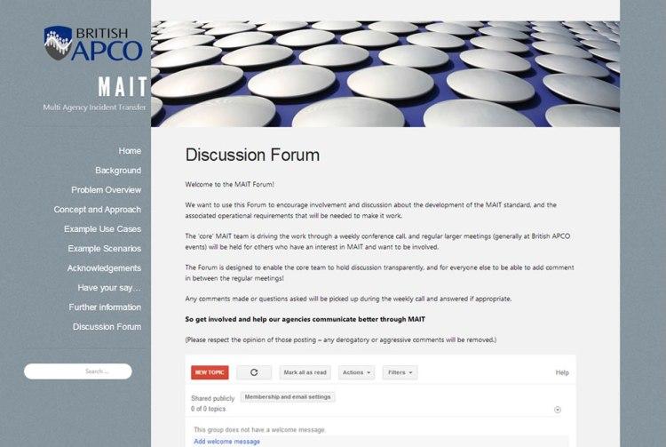 MAIT Discussion Forum graphic