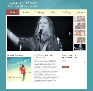 Singer Songwriter Website Design