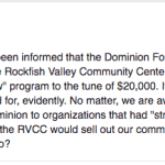 UPDATE 2: News Alert : RVCC Accepts Grant From The Dominion Foundation