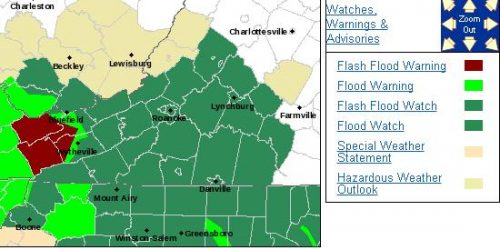 Amherst-Rockbridge : FLOOD WATCH - EXTENDED