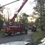 55 MPH Winds Bring Down Trees - Causes Power Outages - Snow Causes Auto Accident