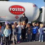 Foster Fuels Brings Out The Big Truck For Rockfish River Elementary School's Community Worker Day