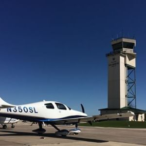 Aircraft AC and Oxygen Services Blue Skies Aviation at KHYI San Marcos Texas Regional Airport