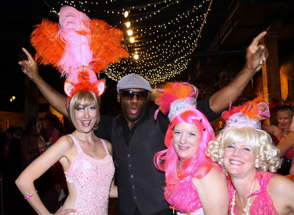 Trixie Minx, Big Sam Williams and Pussyfooters at Blush Ball 2012.