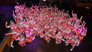 Group photo of the Pussyfooters Blush Ball 2015. Photo by Tracie Morris Schaefer.