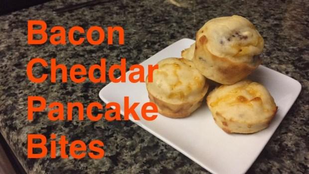bacon cheddar pancake bites