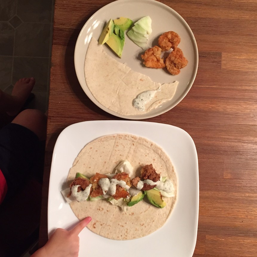 shrimp tacos yogurt sauce