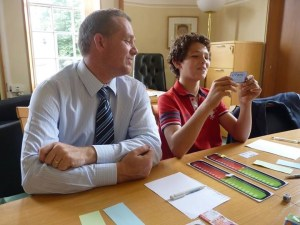 Council leader tests prototype game