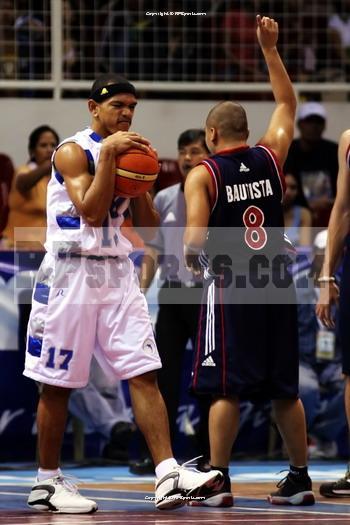 Boyet Bautista signals the play.