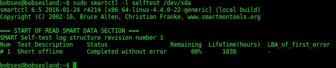 smartctl-short-test-result