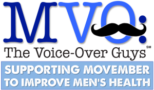 MVO The Voice-Over Guys Movember TAGLINE