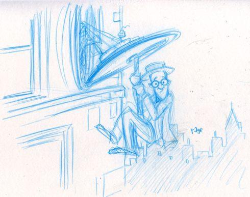 harold lloyd sketch by cartoonist frank page