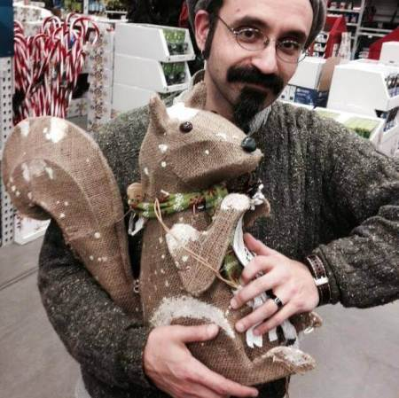 Frank Page and Burlap Bob the Squirrel