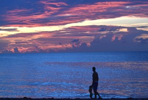 Saturday at Sunrise - Father & Son Walk - Have a Great Day ...Photo Courtesy Rick Alovis