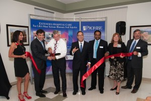 From left:  Carmel Baronoff, Peter Baronoff, Patrick Ryan, Richard Gold,  Dr. Sumeet Shetty, Chris Neishem and Bryan Day
