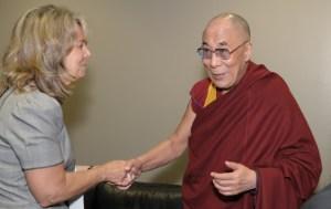 Barbara and Dali Lama
