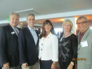 Robert Weinroth, Scott Singer, Mayor Susan Haynie, Former Mayor Susan Whelchel and Doug Heizer
