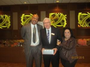 Dr. Brooks, Coral Springs Mayor Skip Campbell and Joyce Karney, Exec. Dir. of Alzheimer's Center