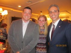 Ryan Hyntuik, Melissa Seda and Boca Council Member, Scott Singer