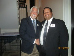 Boca Rep. Club, Pres., Armand Grossman with Michael Barnett, Chairman of PBC Rep. Party