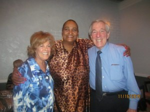 Karen Burke and her friend Richard with Khalilah