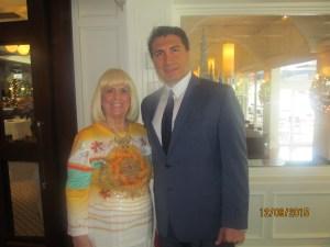 Charlotte Beasley with Saied Shemirani