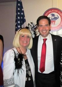Charlotte Beasley and Sen. Marco Rubio