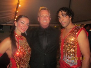 Edna Rodriguez, William Riddle, Pres. of Venetian Arts Society and Enderson Gomez