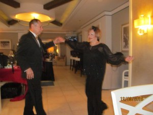 Ballroom Dancers, Sandi and Tony entertained the group