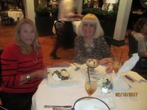 Helene Weicholz and Charlotte Beasley at Tabboo  Restaurant