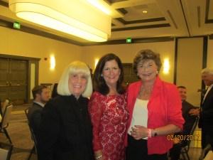 Charlotte Beasley, Mayor Susan Haynie and Arlene Herson
