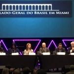 George Gadson (SBDC), Heather Hines (SBA), Sandra Freier (Conselho do cidadão da Florida), Adalnio Senna Ganem (Brazilian Ambassador), Pastor Silair Almeida (PIB), Carlo Barbieri (Oxford Group)