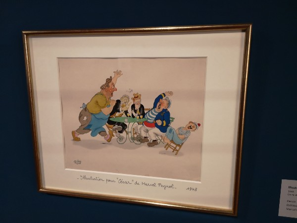 """Albert Dubout, illustration pour """"Marius"""""""