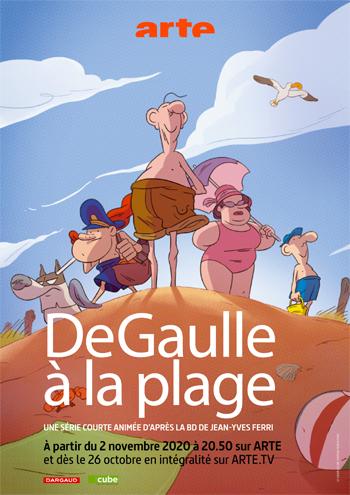 de-gaullee-a-la-plage-affiche