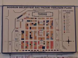 Bodrum Peninsula Market Plan and Stall Layout Turkey