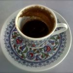 Drinking a cup of Turkish Coffee