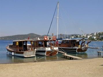Day Boats in Turkbuku Bay Turkey