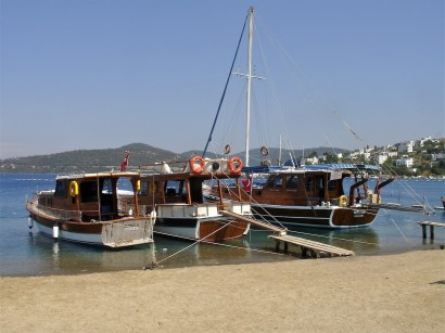 Day Boats in Turkbuku Bay Turkey