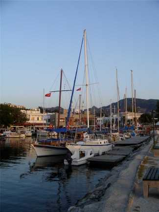 Yalikavak Harbour from the Harbour Wall, Turkey