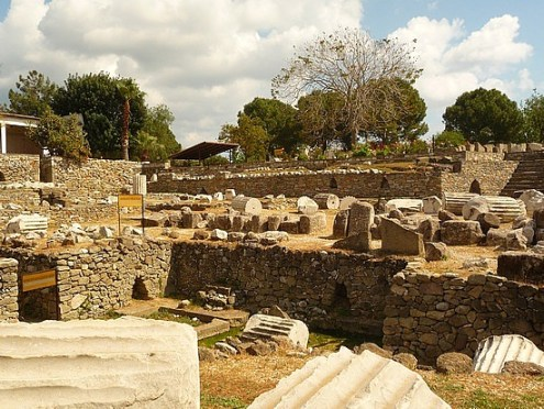 Mausoleum of Halicarnassus, One of the 7 wonders of the world in Bodrum Turkey