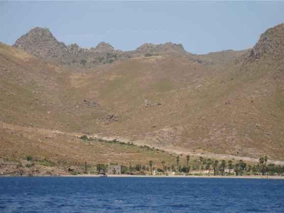 Aspat Beach from a Boat in Turkey