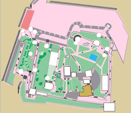 Bodrum Castle Layout and Plan of Exhibits