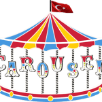 Turkish Flag on top of a Carousel