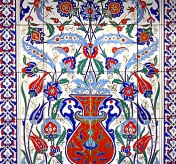 Turkish Bath Bodrum Turkey Wall of Tiles